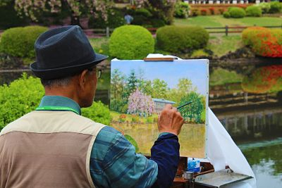 Outdoor painting contest
